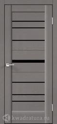 Межкомнатная дверь Velldoris (Веллдорис) PREMIER 20 Ясень грей структурный, лакобель черное