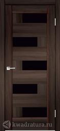 Межкомнатная дверь Velldoris (Веллдорис) PREMIER 5 Орех каштан Черный Лакобель