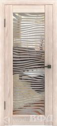 Межкомнатная дверь ВФД Line 8 Капучино/Зеркало