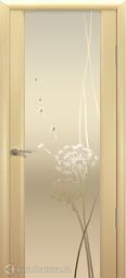Межкомнатная дверь Океан Шторм-3 с/о белое Одуванчик Беленый дуб