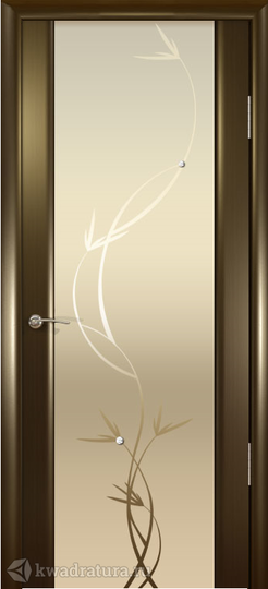 Межкомнатная дверь Океан Шторм-3 с/о белое Растение Венге в Кемерово