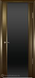 Межкомнатная дверь Океан Шторм-3 Венге с/о черное