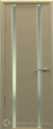 Межкомнатная дверь Океан Шторм-2 беленый дуб с/о белое