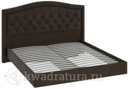 Двуспальная кровать с подъемным механизмом и мягким изголовьем «Адель» (Коричневый кашемир) без матраса ТР