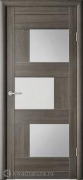 Межкомнатная дверь Фрегат (ALBERO) Стокгольм Серый кедр, стекло мателюкс