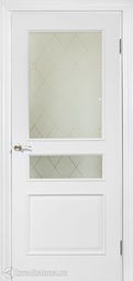Дверь межкомнатная Дера Нордика 1158 ГР белая эмаль
