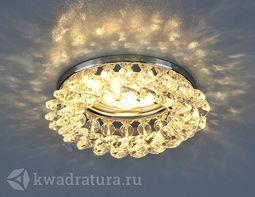 Встраиваемый точечный светильник Elektrostandard 206 хром/прозрачный