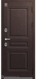Дверь входная металлическая Центурион Т-8 Шоколад букле/миндаль