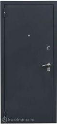 Дверь входная металлическая Легион Т-2 чёрный муар/дуб полярный Терморазрыв