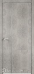 Межкомнатная дверь Velldoris (Веллдорис) TECHNO M2 с замком Муар светло-серый, глухое