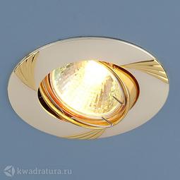 Встраиваемый точечный светильник Elektrostandard 8004A перламутр серебро/золото
