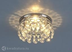 Встраиваемый точечный светильник Elektrostandard 7070 хром/прозрачный