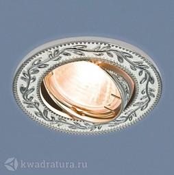 Встраиваемый точечный светильник Elektrostandard 713 белый/серебро