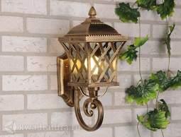 Настенный уличный светильник (Бра) Elektrostandard Cassiopeya U черное золото