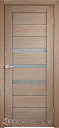 Межкомнатная дверь Velldoris (Веллдорис) Уника 5 бруно, стекло мателюкс
