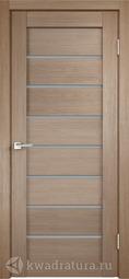 Межкомнатная дверь Velldoris (Веллдорис) Уника 1 бруно, стекло мателюкс