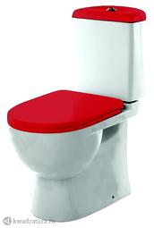 Унитаз-компакт Sanita Luxe Best Color Red SLDM 2 режима, сиденье микролифт