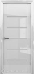 Межкомнатная дверь Фрегат (ALBERO) Вена глянец белый, стекло мателюкс