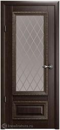 Межкомнатная дверь Фрегат (ALBERO) Версаль 1 Орех СТ (ромб)