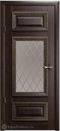 Межкомнатная дверь Фрегат (ALBERO) Версаль 2 Орех СТ (ромб)