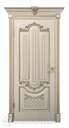 Межкомнатная дверь ДвериХолл Олимпия Экошпон Белое Дерево, глухая