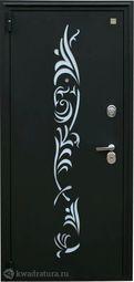 Дверь входная металлическая Зевс Z-7 черный шелк/махагон