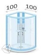 Душевые кабины 100*100 см