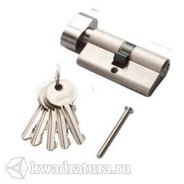Цилиндр RENZ 60мм К-З, стандарт, никель матовый