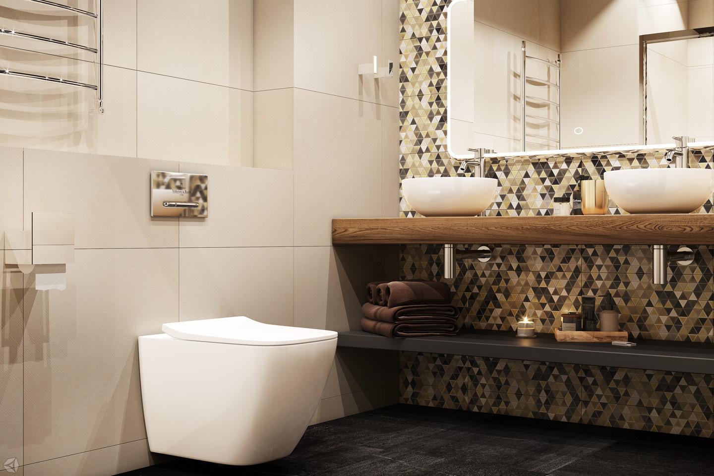 Ванная комната в современном городском стиле